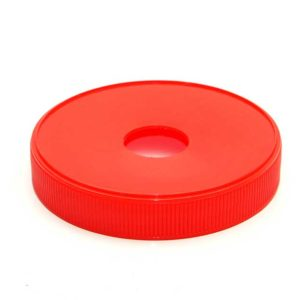 110mm-Ribbed-lid-Red-with-pump-hole