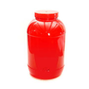Round 6 Litre Transparent Red Container